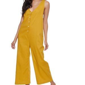 Pants - Oversized Linen Jumpsuit